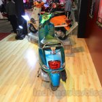 Vespa VX rear turquoise green at Nepal Auto Show 2015