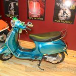 Vespa VX side turquoise green at Nepal Auto Show 2015