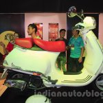 Vespa VX side white at Nepal Auto Show 2015