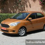 2015 Ford Figo front three quarter first drive review