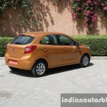 2015 Ford Figo rear three quarter far first drive review