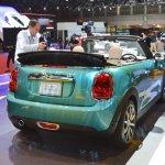 2015 Mini Convertible rear three quarters at the Tokyo Motor Show 2015