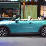 2015 Mini Convertible side at the Tokyo Motor Show 2015