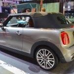 2015 Mini Convertible top deployed at the Tokyo Motor Show 2015