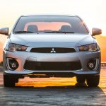 2016 Mitsubishi Lancer facelift front press shots