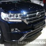 2016 Toyota Land Cruiser facelift grille at 2015 Dubai Motor Show