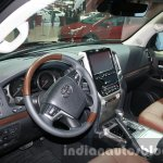 2016 Toyota Land Cruiser facelift interior at 2015 Dubai Motor Show