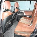 2016 Toyota Land Cruiser facelift rear seats at 2015 Dubai Motor Show