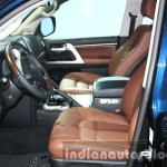 2016 Toyota Land Cruiser facelift seats front at 2015 Dubai Motor Show