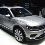 2016 VW Tiguan front quarter at the 2015 Tokyo Motor Show