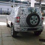 Chevrolet Niva rear spied