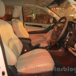 Chevrolet Trailblazer front seat India launch