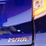 Daihatsu Move Custom badge at the 2015 Tokyo Motor Show