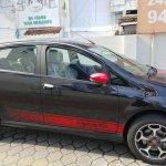 Fiat Abarth Punto side in Black spied