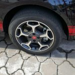 Fiat Abarth Punto wheel in Black spied