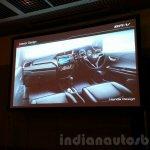 Honda BR-V presentation dashboard