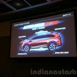 Honda BR-V presentation exterior design