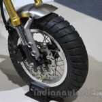 Honda Grom 50 Scrambler Concept One wheel at the 2015 Tokyo Motor Show