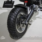 Honda Grom 50 Scrambler Concept One wheel rear at the 2015 Tokyo Motor Show
