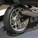 Honda NC750X exhaust at the 2015 Tokyo Motor Show
