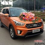 Hyundai ix25 with 1.6 T-GDI petrol engine front launched in China
