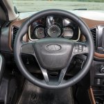 Lada XRAY hatchback interior at the production plant