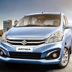 Maruti Ertiga facelift front press shots