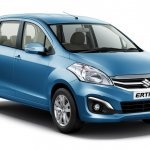 Maruti Ertiga facelift front quarters press shots