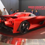 Nissan Concept 2020 Vision Gran Turismo rear quarters at the 2015 Tokyo Motor Show