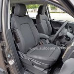 Pre-production Tata Hexa crossover front seats In Images