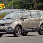 Pre-production Tata Hexa crossover front three quarter In Images