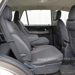 Pre-production Tata Hexa crossover rear seats In Images