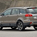 Pre-production Tata Hexa crossover rear three quarter In Images