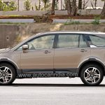 Pre-production Tata Hexa crossover side In Images