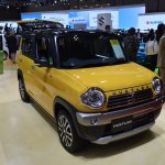 Suzuki Hustler facelift front quarter at the 2015 Tokyo Motor Show