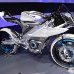 Yamaha PES2 front quarter at the 2015 Tokyo Motor Show