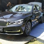 2016 BMW 7 Series front India preview spied