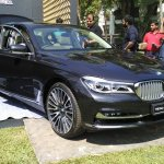 2016 BMW 7 Series front quarters India preview spied