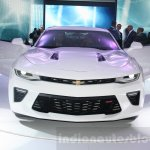 2016 Chevrolet Camaro front at the 2015 Dubai Motor Show