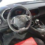 2016 Chevrolet Camaro interior close at the 2015 Dubai Motor Show