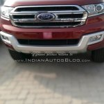 2016 Ford Endeavour front snapped at an Indian dealership