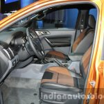 2016 Ford Ranger Wildtrak front cabin at the 2015 Dubai Motor Show