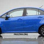 2016 Proton Persona (Iriz-based sedan) side Rendering