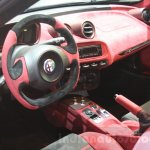 Alfa Romeo 4C interior by Garage Italia Customs at DIMS 2015