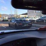 Bugatti Chiron rear three quarter left spied
