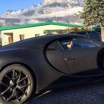 Bugatti Chiron side spied