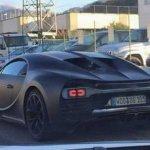 Bugatti Chiron taillight detail spied