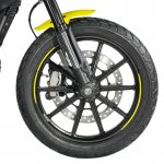 Ducati Scrambler Flat Track Pro front wheel at EICMA 2015
