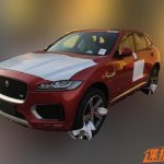 Jaguar F-Pace front quarter spied in China
