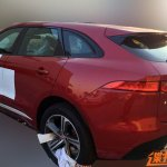 Jaguar F-Pace rear quarter spied in China